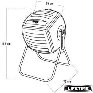 lifetime 60076 composteur rotatif dimensions