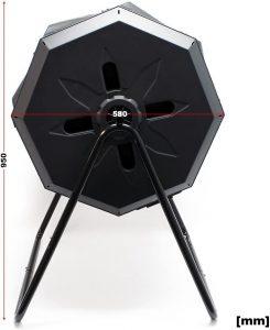 wiltec composteur rotatif dimensions